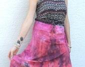 SALE! Happy Berry Asymetrical Hem Double Knit Skirt