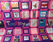 Baby Clothes Quilt Memory quilt made from clothes - Deposit