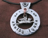Custom Hand Crafted Flying Angel Dog Necklace