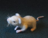 Needle Felted Mouse Shoulder Pet -- Louie the Escaped Lab Mouse