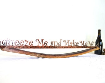 """CRUZEN - """"Squeeze Me and Make Me Wine"""" w/ Napa wine barrel stave holder -100% recycled"""