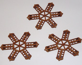 Lot of 3 Tardis Snowflakes
