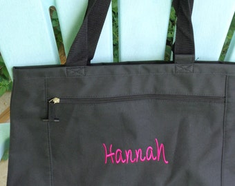 Set of Six monogrammed totes