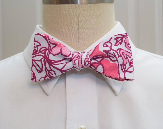 Alpha Phi Bow Tie, lilly sorority print, sorority sweetheart bow tie, licensed sorority Alpha Phi print, Alpha Phi formal bow tie, self-tie