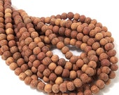 Unfinished Bayong Wood, 6mm-7mm, Round, Smooth, Natural Wood Beads, Full strand, 75pcs - ID 1912