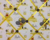 Winnie the Pooh Fabric Photo Bullentin Memory Board - new print
