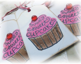 Cupcake Tags - Sugary Sweet Cupcakes (6)