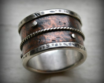 14mm wide band Etsy