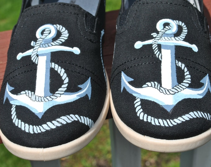 New Design Custom Anchor with rope design size 10 - SOLD
