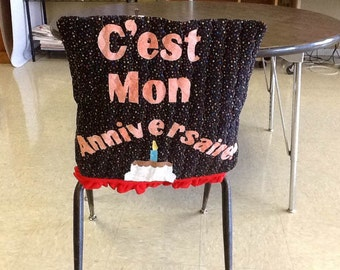 Birthday Celebration Chair Cover Any Language