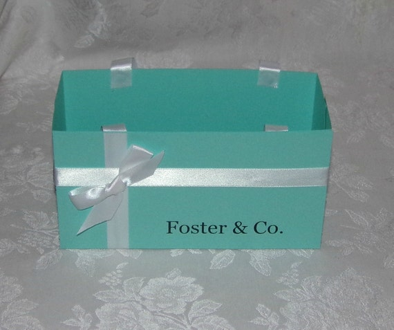 JUMBO SIZE Personalized Tiffany Blue Gift Bag Other Colors Available