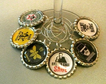 Wine Charm: Breaking Bad Drink Charms - Set of 6 Wine Charms