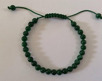 Tibetan mala Small Green Jade Wrist mala/ Bracelet 6mm for meditation GMS-158