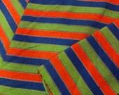 Guatemalan Fabric in Orange, Teal and Green