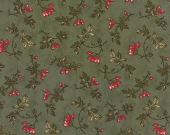 Winterlude - Sugar Plums in Holly by 3 Sisters for Moda Fabrics