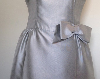 Vintage Paul Stanley Ltd. New York Silver Cocktail Dress