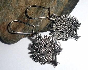 Tibetan Silver Tree of Life Earrings Dangle earthegy
