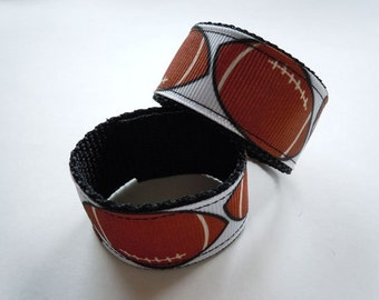 Football Sleeve Scrunchies Holders You Choose SPORTS RIBBON and Colors
