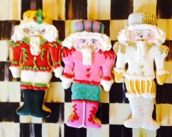 Nutcrackers Cookies Lovingly Decorated By The Cookie Couture on Etsy- 6 pieces