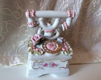 Retro Telephone ceramic jewelry box