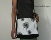Messenger with Dandelion Print