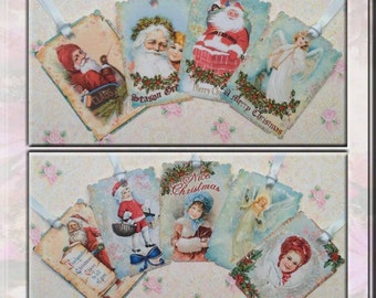 A Blue Christmas Gift Tags set of 9  No.411