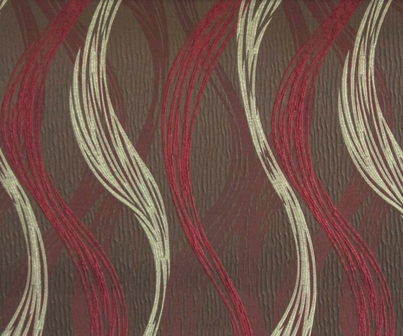 Maroon Strokes Ja Fabric By The Yard Curtain Fabric Upholstery