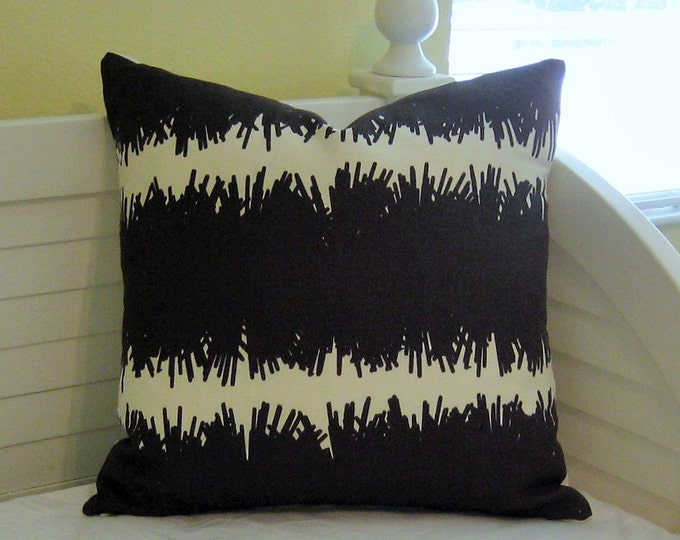 Studio Bon Bang Chocolate Linen Designer Pillow Cover