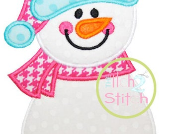 Snowman Applique Design In Hoop Size(s) 4x4, 5x7, & 6x10 INSTANT DOWNLOAD now available