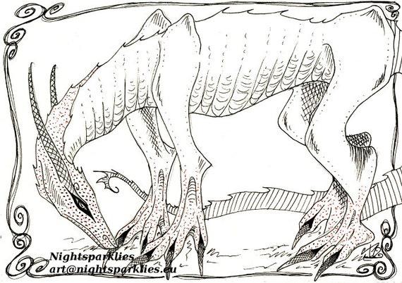 Original Drawing Sketch Creature Concept dragon mystical magical fantasy mythical