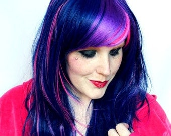 SALE Purple wig, cosplay wig, pink wig, scene wig, blue wig // Scene Hipster Emo Punk Rock Hair wig // Sparkle and Shine