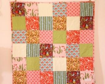 ORGANIC Baby Quilt, Patchwork Blanket, Monaluna Meadow