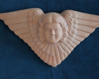 Clay angel garden wall hanging