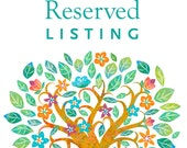 Reserved listing for Marissa & Michael