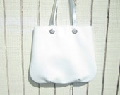 White leather tote