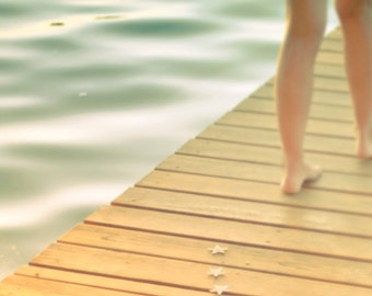 Fine Art Photography, Beach Photography, Coastal Decor, Teen Decor, Summer, Dreamy, Cream, Teal, Vintage Look, Water, 8x10 print