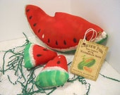 Summer Watermelon Soft Sculpture, Set of 3