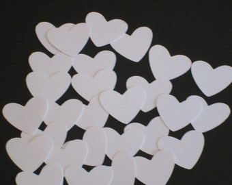 200 White Heart die cuts