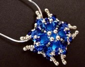 Deep Ocean Blue Luna Soft Square Pendant
