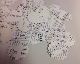 Confetti from Vintage German Sheet Music Over 450 Punches Rippy Bits by TangoBrat - Ready to Ship