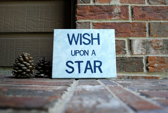"Wish Upon A Star Painted on 8""x10"" Stretched Canvas"