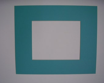 picture frame mat turquoise blue single mat 11x14 for 8x10 photo or art rectangle cutout