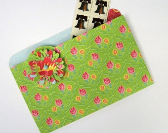 Coupon Organizer File Folder Magnet in Bright Green for Recipes, Photos and Notes