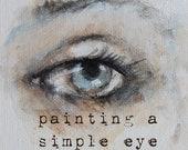 how to sketch & paint a simple eye.... my new online mini class karen milstein