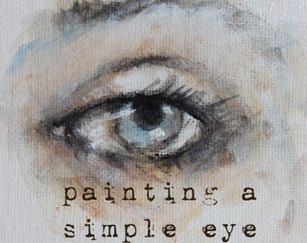 how to sketch & paint a simple eye.... my new online mini class karen milstein