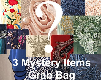 MYSTERY GRAB BAG Sale - 3 Mystery Items of your size Great as Gifts! Womens Fashion. Spice up your day Usual Price Over 100 Dollars!