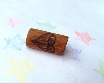 Bamboo Dread Bead - Freestyle Pyrographic -Sweet