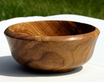 Turned Wood Bowl, Claro Walnut Bowl, Salad or Serving Bowl