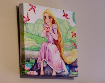 Tangled Rapunzel Princess Flynn Ryder wall art wall decor baby nursery 10x10 12x12 16x16 20x20