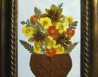 Pressed Flower Basket in 5 x 7 frame   No. 223
